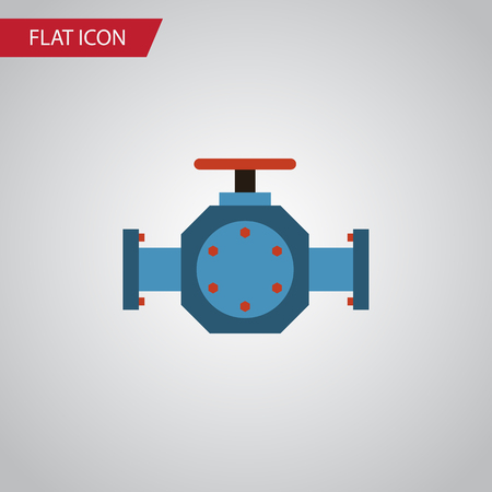 Isolated Pipe Pump Valve Flat Icon. Flange Vector Element Can Be Used For Pipe, Pump, Valve Design Concept.