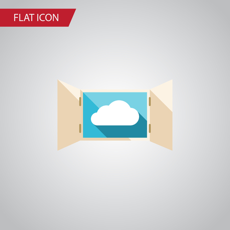 veranda: Isolated Open Flat Icon. Cloud Vector Element Can Be Used For Cloud, Open, Window Design Concept.
