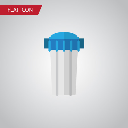 Isolated Filtration Flat Icon. Water Filter Vector Element Can Be Used For Filtration, Water, Filter Design Concept.