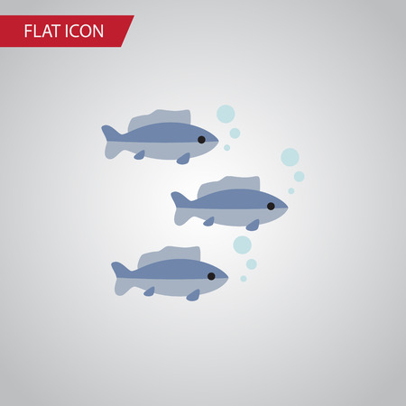 Isolated Fish Flat Icon. Tuna Vector Element Can Be Used For Tuna, Fish, Seafood Design Concept.
