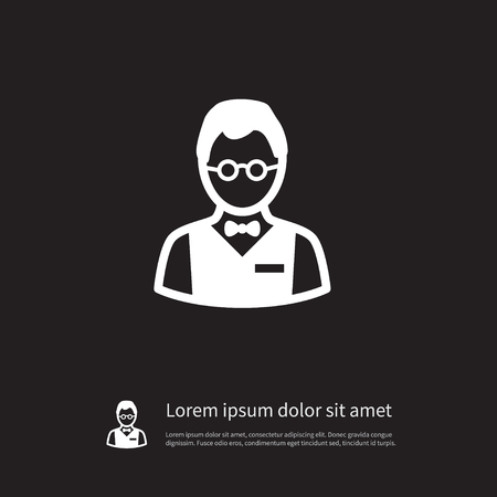 investor: Isolated Investor Icon. Person  Vector Element Can Be Used For Person, Investor, Croupier Design Concept. Illustration