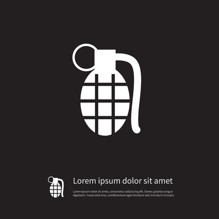 Dynamite Vector Element Can Be Used For Grenade, Bombshell, Ammunition Design Concept.  Isolated Grenade Icon.