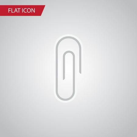 Isolated Clip Flat Icon. Fastener Page Vector Element Can Be Used For Clip, Fastener, Paper Design Concept.