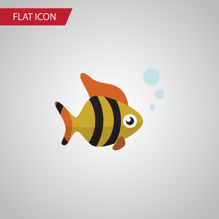 Isolated Tuna Flat Icon. Seafood Vector Element Can Be Used For Tuna, Fish, Seafood Design Concept.