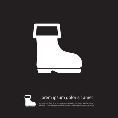 Isolated Wellies Icon. Shoes Vector Element Can Be Used For Wellies, Shoes, Boots Design Concept.