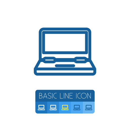 computerized: Isolated Monitor Outline. Computing Vector Element Can Be Used For Monitor, Laptop, Computing Design Concept. Illustration