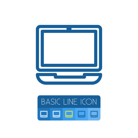 computerized: Device Vector Element Can Be Used For Laptop, Notebook, Computer Design Concept.  Isolated Computerized Outline.