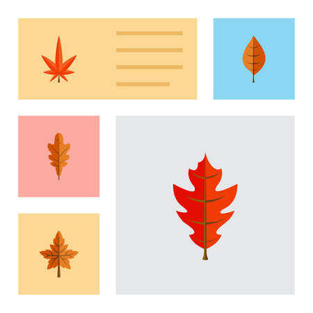 Flat Icon Foliage Set Of Aspen, Foliage, Alder And Other Vector Objects Illustration