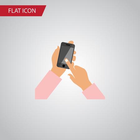 Touchscreen phone Flat Icon. Illustration