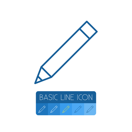 Isolated Pen Outline. Pencil Vector Element Can Be Used For Pen, Pencil, Write Design Concept. Illustration