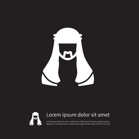 Isolated Moslem Icon. Mussulman Vector Element Can Be Used For Moslem, Mussulman, Muslim Design Concept. Vettoriali
