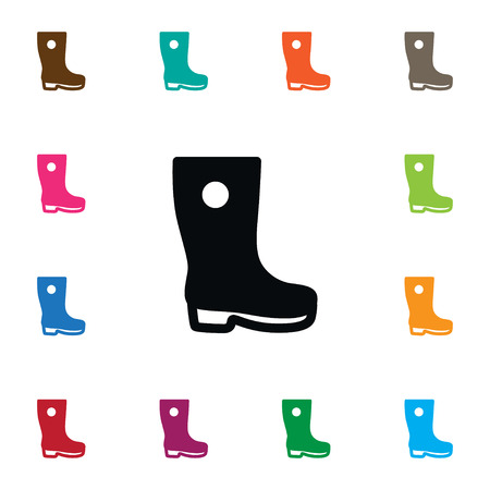 gumboots: Isolated Gumboots Icon. Galoshes Vector Element Can Be Used For Waterproof, Gumboots, Galoshes Design Concept. Illustration
