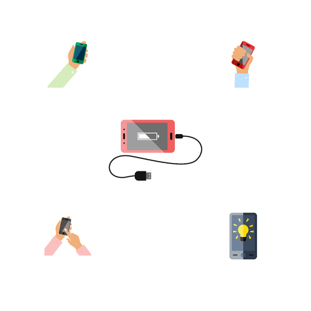 Set of phones illustration.