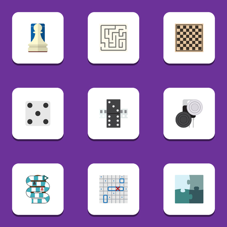 backgammon: Flat Icon Games Set Of Multiplayer, Pawn, Sea Fight And Other Vector Objects. Also Includes Lost, Enigma, Game Elements.