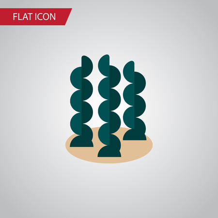 Isolated Seaweed Flat Icon. Alga Vector Element Can Be Used For Seaweed, Alga, Spirulina Design Concept. Illustration