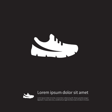 snickers: Isolated Sport Footwear Icon. Gumshoes Vector Element Can Be Used For Sneakers, Gumshoes, Footwear Design Concept.