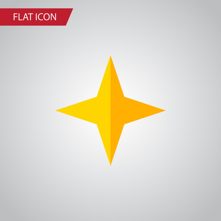 Isolated Asterisk Flat Icon. Star Vector Element Can Be Used For Star, Asterisk, Sky Design Concept. Illustration