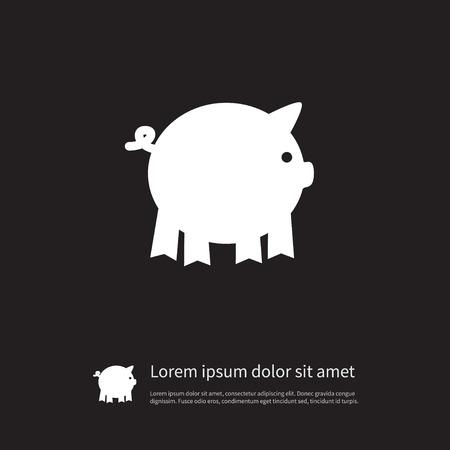 격리 된 돼지 아이콘입니다. 돼지 벡터 요소 돼지, 돼지, 돼지 디자인 개념에 대 한 사용할 수 있습니다.