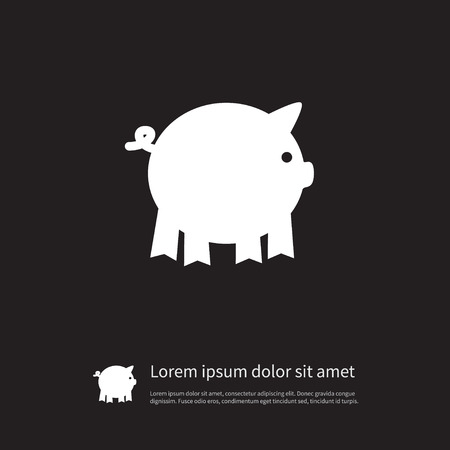 Isolated Piggy Icon. Pig Vector Element Can Be Used For Pig, Piggy, Swine Design Concept.
