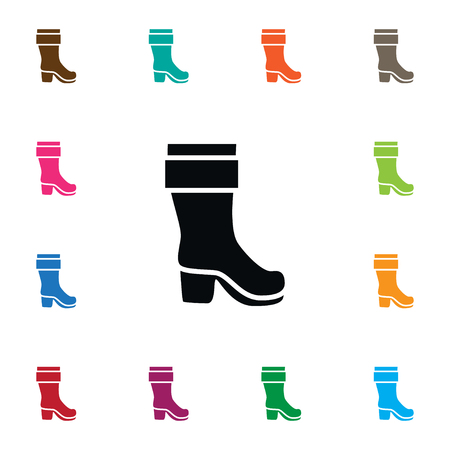 Isolated Boots Icon. Wellies Vector Element Can Be Used For Boots, Wellies, Footwear Design Concept.