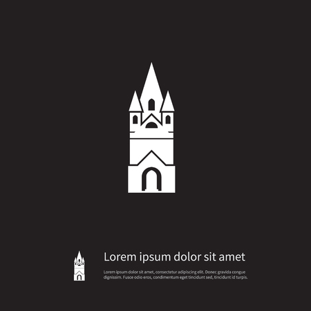 Isolated Faith Icon. Cathedral Vector Element Can Be Used For Faith, Cathedral, Church Design Concept.