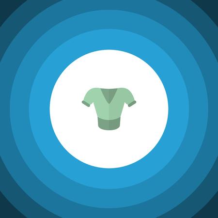 Icône plate chemisier isolé. Élément de vecteur occasionnel peut être utilisé pour la chemise, chemisier, concept de conception de vêtements. Banque d'images - 85243368