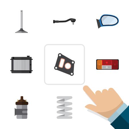 Set van illustratie van de component. Stock Illustratie