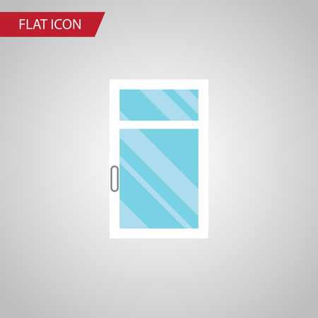 veranda: Isolated Glass Flat Icon. Clean Vector Element Can Be Used For Window, Clean, Frame Design Concept. Illustration
