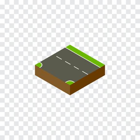 下方ベクトル要素の使用できる下、下方、道路デザイン コンセプト。 等尺性を分離しました。