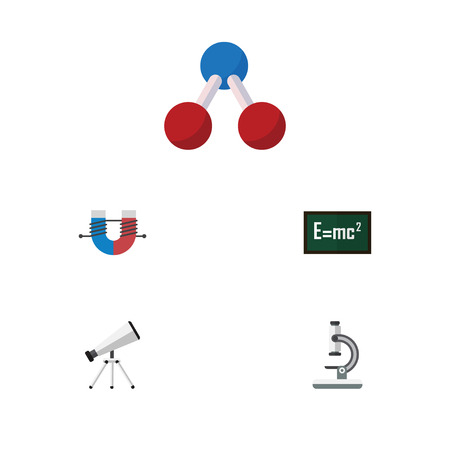 Flat Icon Study Set Of Theory Of Relativity, Scope, Nuclear And Other Vector Objects.