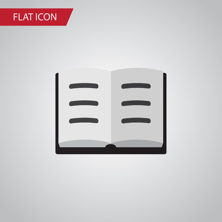 Lecture  Vector Element Can Be Used For Lecture, Book, Information Design Concept.  Isolated Book Flat Icon.