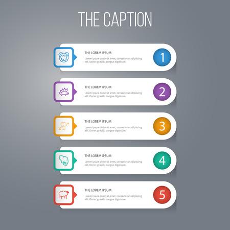 Ranking template. Illustration