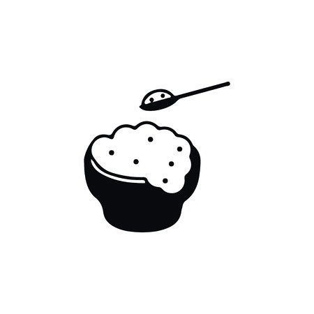 Rice Vector Element Can Be Used For Eating, Rice, Soup Design Concept.  Isolated Eating Icon.