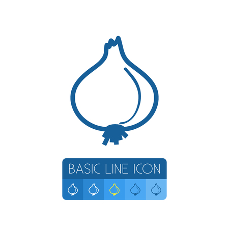 Onion Vector Element Can Be Used For Leek, Onion, Shallot Design Concept.  Isolated Leek Outline. 向量圖像