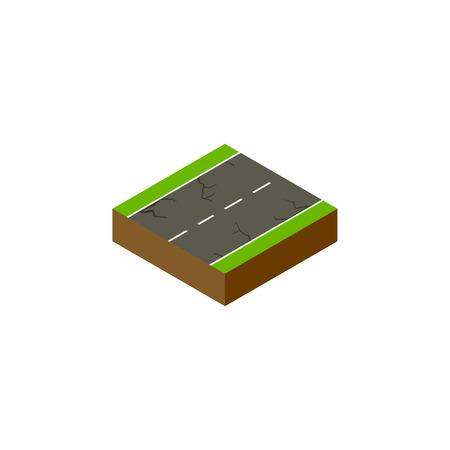 亀裂ベクトル要素は、亀裂、地震、道路設計の概念のために使用することができます。 単離された地震