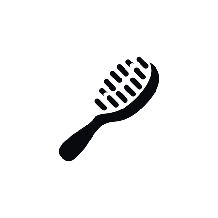 grooming: Isolated Hackle Icon. Styling Brush Vector Element Can Be Used For Hackle, Hairbrush, Brush Design Concept. Illustration