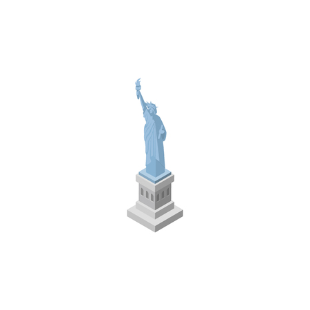 New York Vector Element Can Be Used For Statue, Liberty, America Design Concept.  Isolated Statue Of Liberty Isometric. Ilustracja