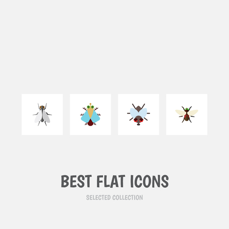 Flat Icon Buzz Set Of Tiny, Bluebottle, Buzz And Other Objects, Includes Crying, Child, Person Elements. Ilustracja