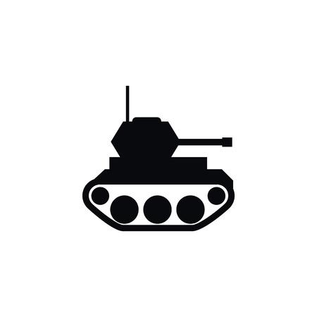 Military tank icon.
