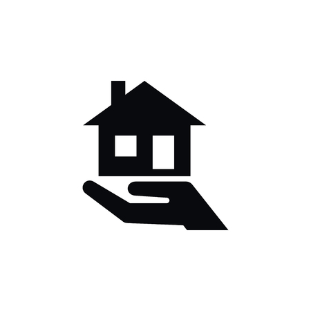domicile: Isolated Mortgage Icon, Purchase Realty Element, Can Be Used For Mortgage, House, Hand Design Concept.