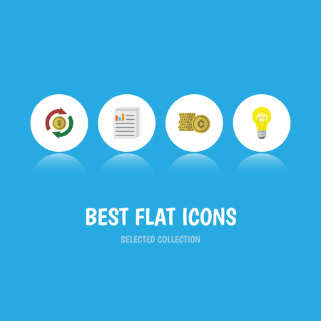 Flat Icon Incoming Set Of Bubl, Interchange, Cash And Other Vector Objects. Also Includes Interchange, Coin, Shiner Elements.