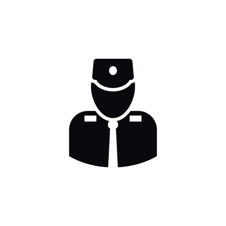 squad: Isolated Officer Icon. Military Vector Element Can Be Used For Officer, Patrol, Military Design Concept.
