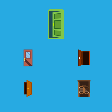 Flat Icon Approach Set Of Frame, Approach, Saloon And Other Vector Objects. Also Includes Exit, Frame, Entrance Elements. Ilustrace