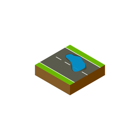 Isolated Puddle Isometric. Plash Vector Element Can Be Used For Plash, Puddle, Road Design Concept. Illustration