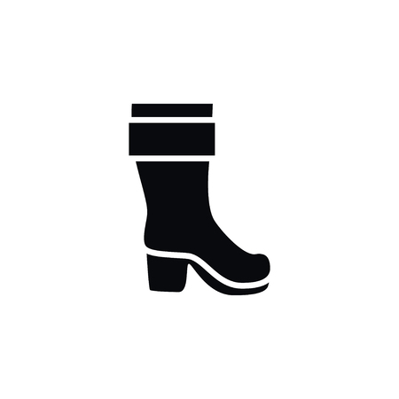Wellies Vector Element Can Be Used For Boots, Wellies, Footwear Design Concept.  Isolated Boots Icon.