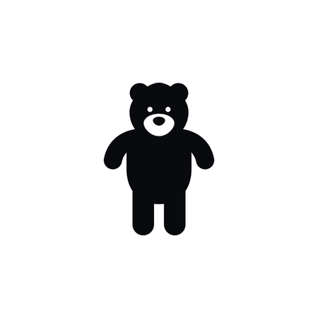 Isolated Bear Icon. Plush Vector Element Can Be Used For Plush, Cuddly, Bear Design Concept. Ilustração