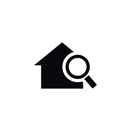 Isolated Home Icon. Search Vector Element Can Be Used For Home, Search, Magnifier Design Concept. Ilustração