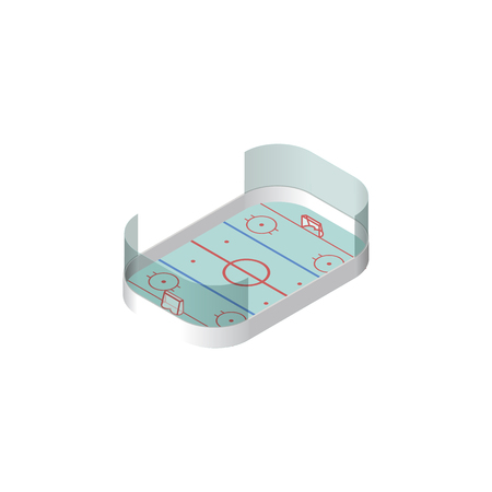 hockey goal: Isolated Hockey Isometric. Ice Games Vector Element Can Be Used For Hockey, Playground, Ice Design Concept. Illustration