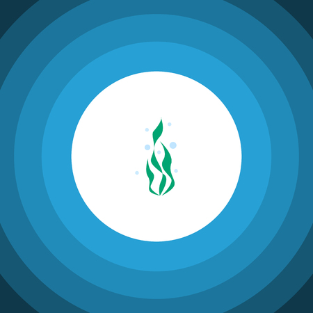 Isolated Water Plant Flat Icon.