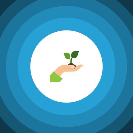 Isolated Plant Flat Icon.